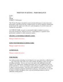 Free Written Warning Template by Written Warning Template E Commercewordpress