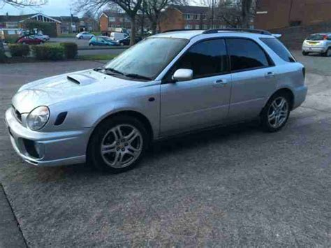 silver subaru wrx interior subaru 2002 impreza wrx turbo wagon silver mot mint