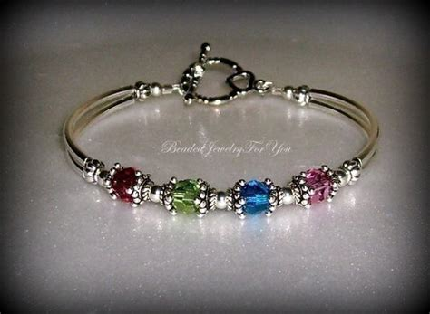 Custom Handmade Beaded Jewelry - birthstone bracelet mothers day gift by beadedjewelryforyou