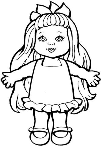coloring page baby doll doll coloring page free printable coloring pages