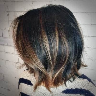 black bob with brown highlights black hair color with brown highlights brown hairs