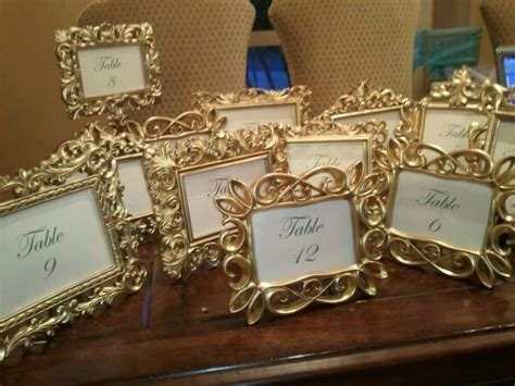 gold themes name gold frame table numbers i dream of a fairy tale wedding