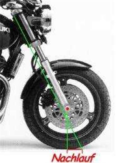 Motorrad Gabel Nachlauf by Fahrwerk