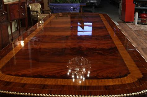 Expensive Dining Room Tables Large Mahogany Duncan Phyfe Dining Room Table With 3 Leaves 2 Pedestals Ebay