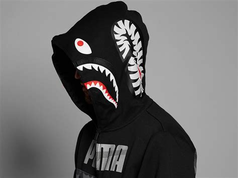Jaket A Bathing Ape Bape Shark Black Wash x bape shark hoodie black camo xl photo 1 4 bape shark bape