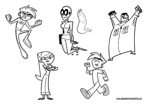 Danny Phantom Coloring Pages Danny Phantom Coloring Pages