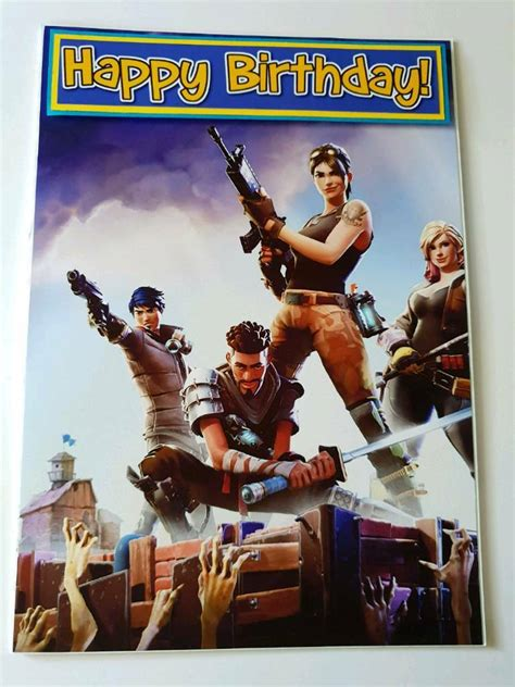 fortnite birthday card xbox  ps  shaw manchester