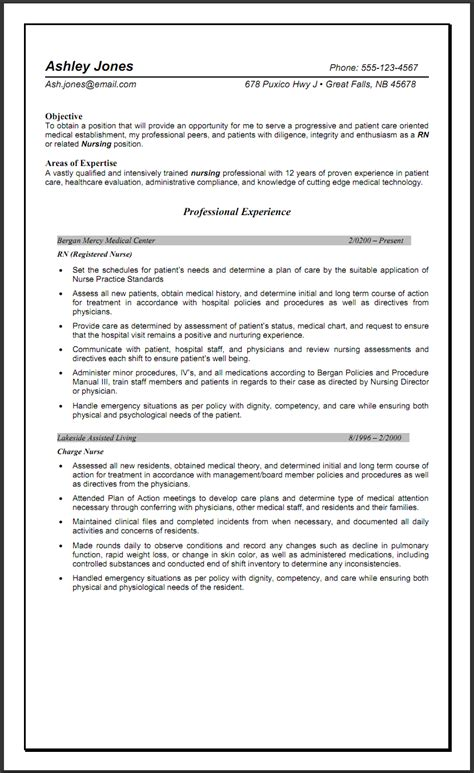 Resume Templates For Experience sle resume for nurses with experience sle resumes