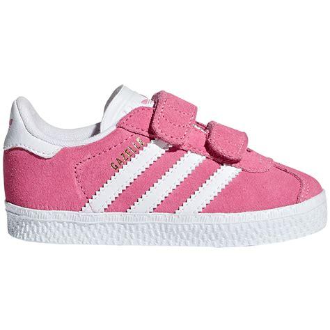 adidas gazelle sneakers m velcro pink
