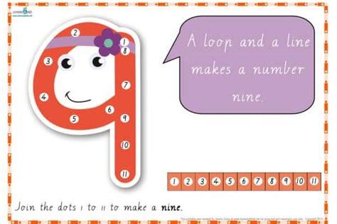 dot  dot number rhyme charts cursive print learning  kids