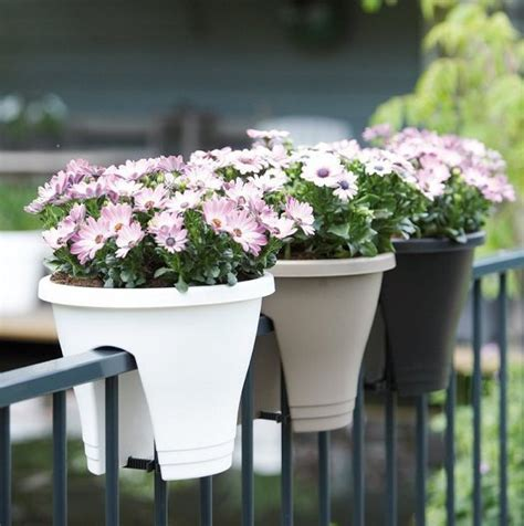 flower pots balcony railings photo balcony ideas patio and balcony planter ideas