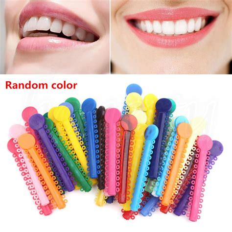 color bands for braces 4x dental orthodontic ligature ties elastic rubber bands