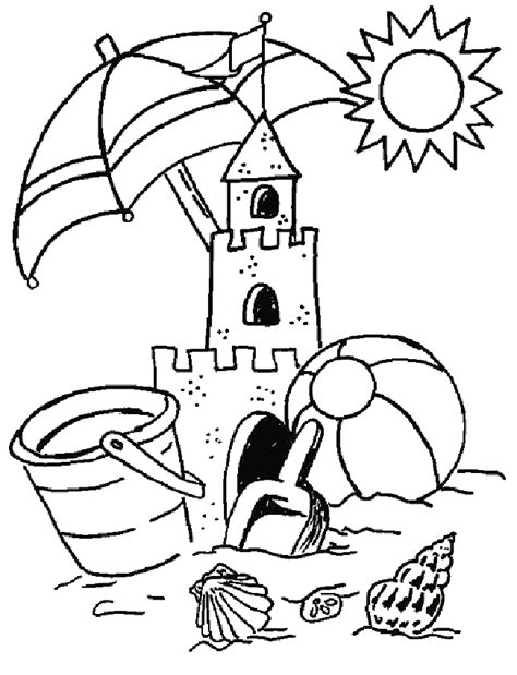 summer vacation printable coloring pages for kids 29
