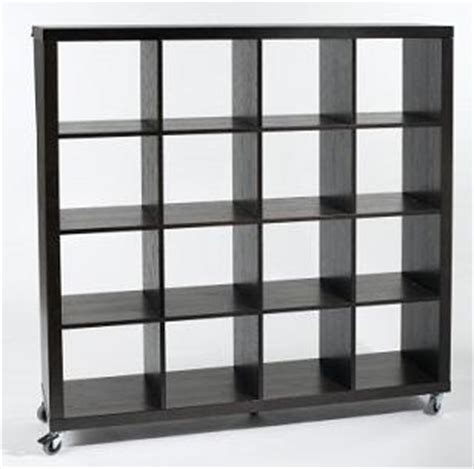 Small Bookcase On Wheels Eurostyle Bookcase On Wheels With 12 Enclosed Shelves