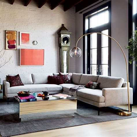 Floor L For Sectional by Sectional L Floor Charming Tufted Sectional With Chaise Sofa Modern Black Wooden Floor