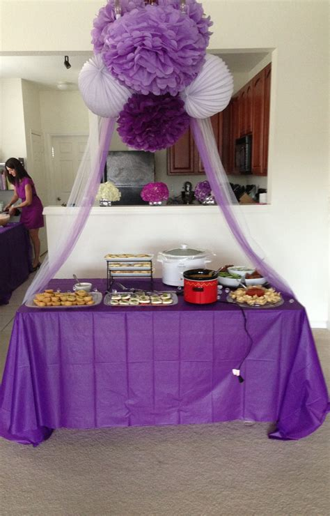 purple pink theme bridal wedding shower party ideas purple bridal shower time for a celebration pinterest