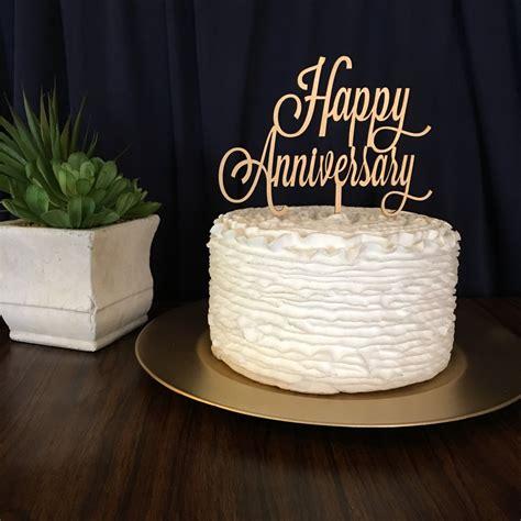 Simple Diy 50th Wedding Anniversary Smileydot Us Anniversary Cake Topper Happy Anniversary Cake Gold Cake