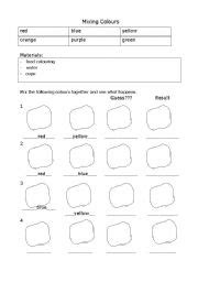 teaching worksheets colours
