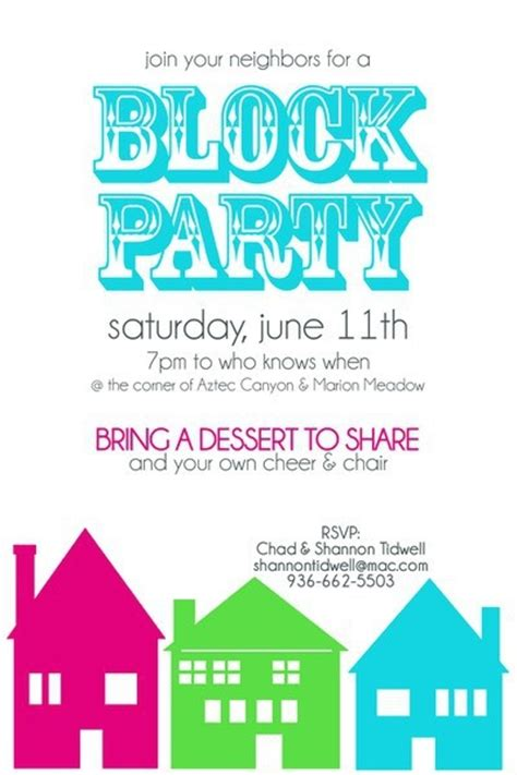 Invitation Letter Neighborhood 17 Best Ideas About Block Invites On Neighborhood Block And
