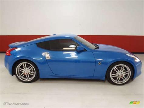 nissan 370z custom blue monterey blue 2009 nissan 370z touring coupe exterior