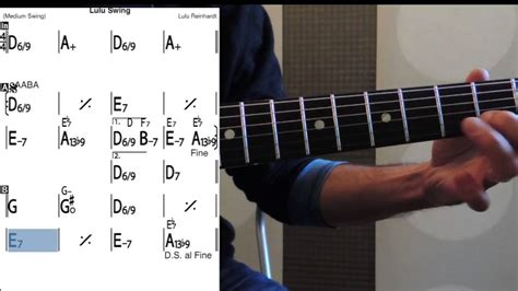 swing guitar lessons lulu swing guitar lessons slow tempo tab melody