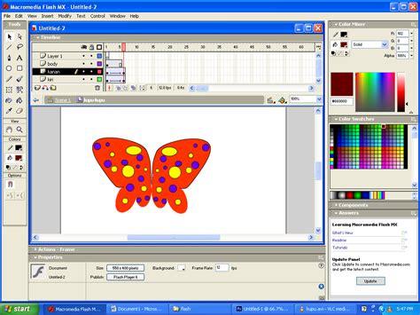 membuat video animasi dengan macromedia flash membuat animasi kupu kupu dengan macromedia flash