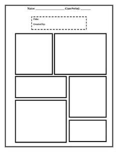 6 panel comic template newspaper on comic strips comics and app