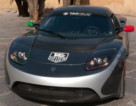 Tesla Car Price Tag Tag Heuer Tesla Roadster Photo 9 9505