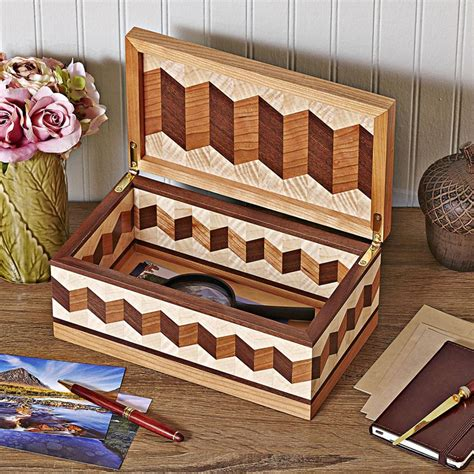zig zag wood pattern zigzag box woodworking plan from wood magazine