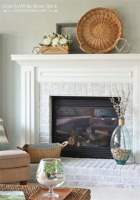 whitewashed brick fireplace how to whitewash brick sand and sisal