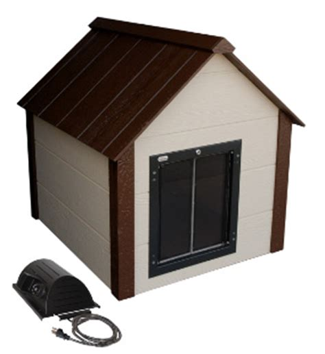 large heated dog house climate master arctic heated insulated dog house