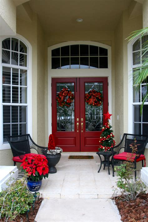 christmas decor   front door doors  design
