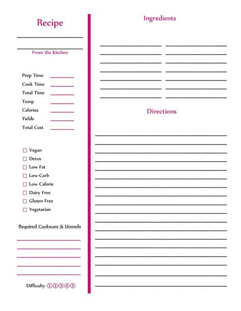 how to make a custom invoice template recipe book for word i saneme