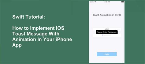xml layout ios swift tutorial how to implement ios toast message with