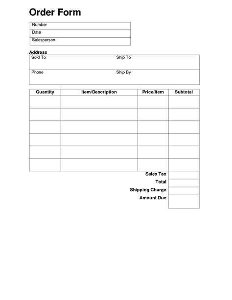 best photos of basic sle order forms basic order form