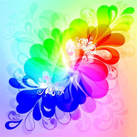 colorful flower design colorful floral background vector graphic free vector