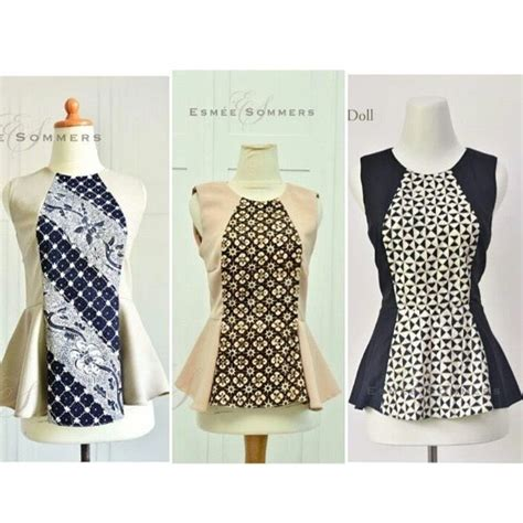 Blouse Batik Puplum Resleting 214 best batik images on batik dress batik fashion and blouses