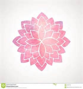 Lotus Flower Pattern Design Watercolor Pink Flower Pattern Silhouette Of Lotus