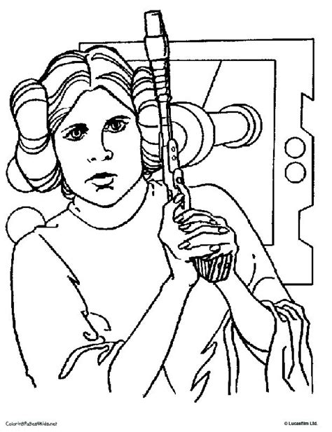 Princess Leia And Other Coloring Pages Cake Decorating Wars Princess Leia Coloring Pages Free Coloring Sheets
