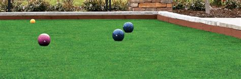 synthetic turf surfaces for bocce ball court construction