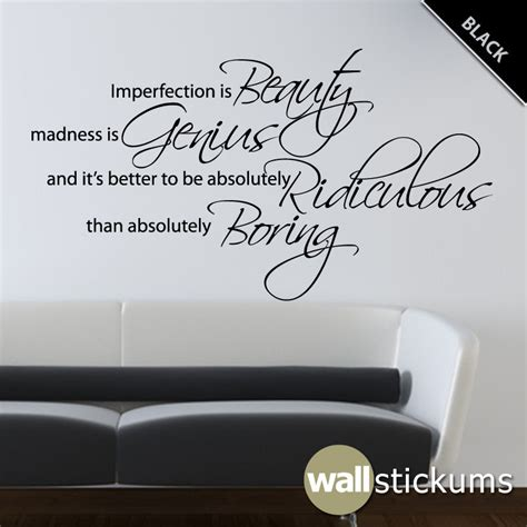 vinyl wall stickers quotes marilyn wall decal quote vinyl imperfection by wallstickums