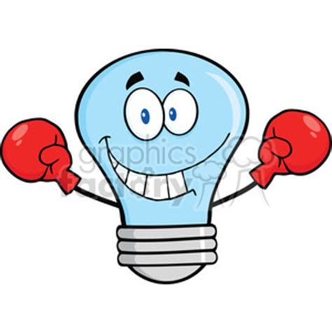 Boxer Gloves Light royalty free 6131 royalty free clip smiling blue light