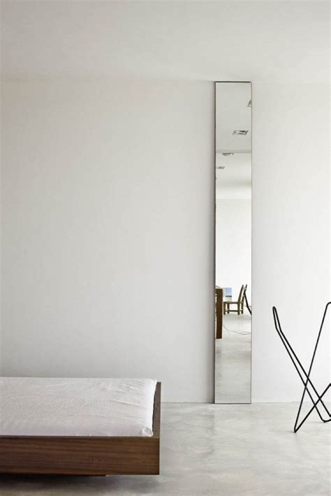 floor to ceiling skinny mirror interiors residence pinterest