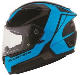 Scorpion exo r2000 dispatch full face motorcycle helmet black blue