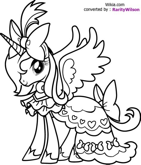 My Little Pony Coloring Pages Team Colors My Pony Color Page