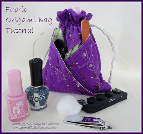 Origami Bag Pattern - creating my way to success fabric origami bag photo