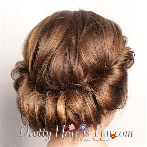 how to do low hairstyles pretty hair is fun rolled updo hair tutorial pretty