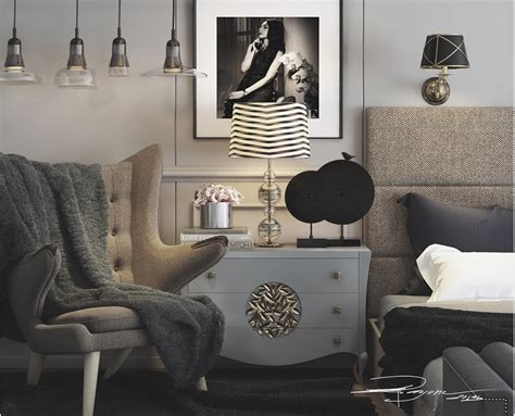 black and white artwork for bedroom a modern deco home visualized in two styles