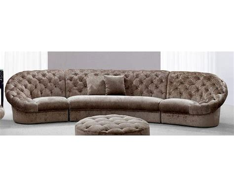 Sectional Fabric Sofa Modern Tufted Fabric Sectional Sofa 44l6039