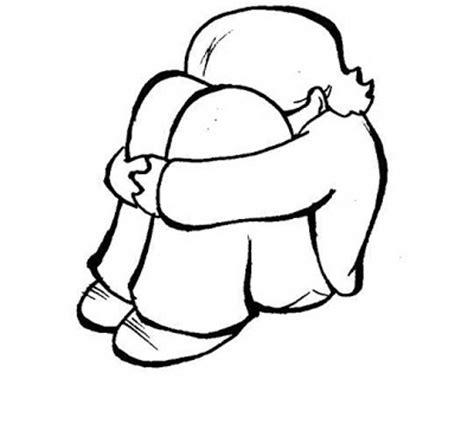 imagenes para dibujar tristes de amor colorea tus dibujos ni 241 a triste para colorear y pintar